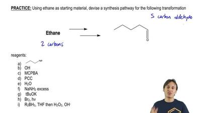 Using ethane as starting material, devise a synthesis pathway for the followin...