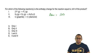 For which of the following reaction(s) is the enthalpy change for the reaction...