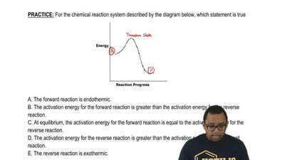 For the chemical reaction system described by the diagram below, which stateme...