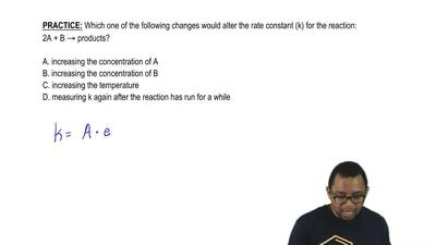 Which one of the following changes would alter the rate constant (k) for the r...