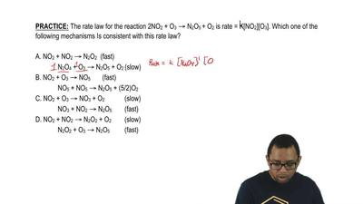 The rate law for the reaction 2NO2 + O3 → N2O5 + O2 is rate = K[NO2][O3]. Whic...