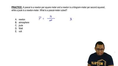 A pascal is a newton per square meter and a newton is a kilogram-meter per sec...