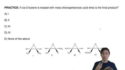 If cis-2-butene is treated with meta-chloroperbenzoic acid what is the final p...
