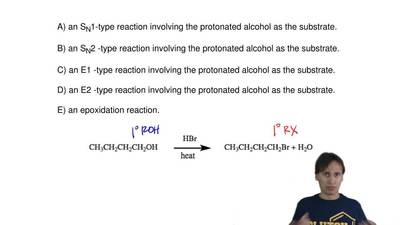 The following reaction below is probably     A) an SN1-type reaction involving...