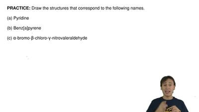 Draw the structures that correspond to the following names.  (a) Pyridine  (b)...