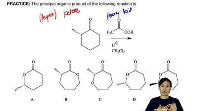 The principal organic product of the following reaction is ...