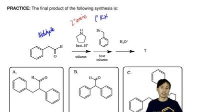 The final product of the following synthesis is: ...
