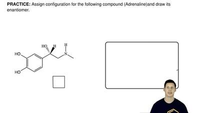 Assign configuration for the following compound (Adrenaline) and draw its enan...