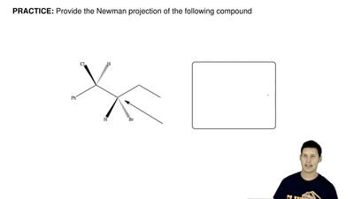 Provide the Newman projection of the following compound ...