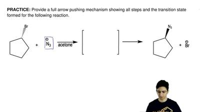 Provide a full arrow pushing mechanism showing all steps and the transition st...