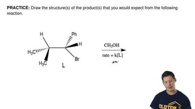 Draw the structure(s) of the product(s) that you would expect from the followi...