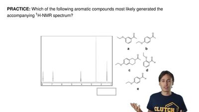 Which of the following aromatic compounds most likely generated the accompanyi...