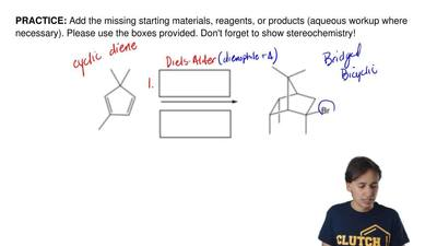 Add the missing starting materials, reagents, or products (aqueous workup wher...