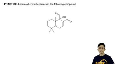 Locate all chirality centers in the following compound ...