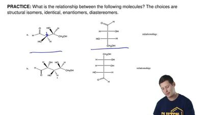 What is the relationship between the following molecules? The choices are stru...
