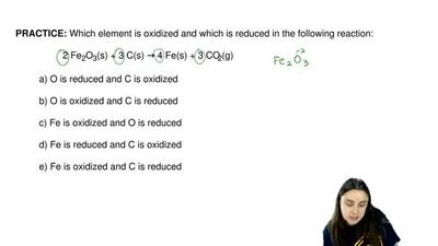 Which element is oxidized and which is reduced in the following reaction:  2 F...