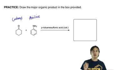 Draw the major organic product in the box provided.  ...