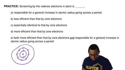 Screening by the valence electrons in atom is ______.  a) responsible for a ge...