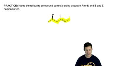 Name the following compound correctly using accurateR or S and E and Z nomen...