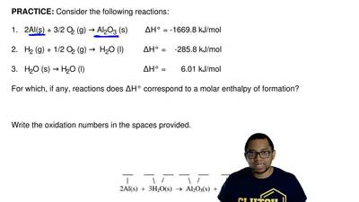 Consider the following reactions:  1.   2Al(s) + 3/2 O2 (g) → Al2O3 (s)       ...