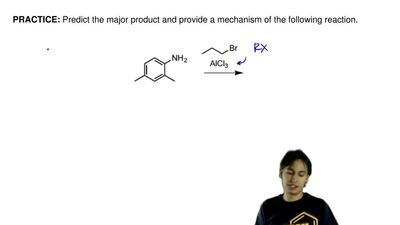 Predict the major product and provide a mechanism of the following reaction. ...