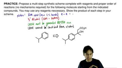 Propose a multi-step synthetic scheme complete with reagents and proper order ...
