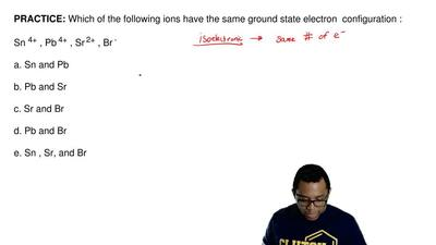 Which of the following ions have the same ground state electron configuration:...