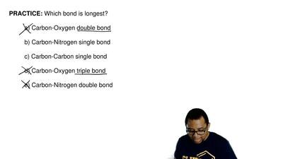 Which bond is longest?  a) Carbon-Oxygen double bond  b) Carbon-Nitrogen singl...