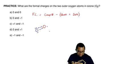 What are the formal charges on the two outer oxygen atoms in ozone (O 3)?  a) ...