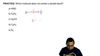 Which molecule does not contain a double bond?  a)HNO  b)C2H2  c)H2CO  d)C...