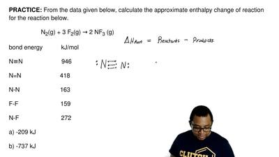 From the data given below, calculate the approximate enthalpy change of reacti...