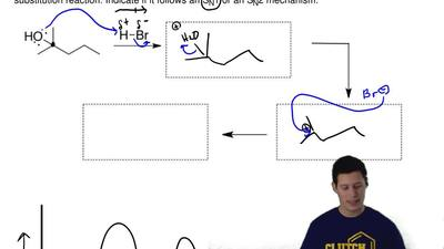 Draw the reaction mechanism and the energy diagram for the following substitut...