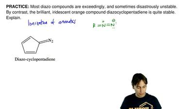 Most diazo compounds are exceedingly, and sometimes disastrously unstable. By ...