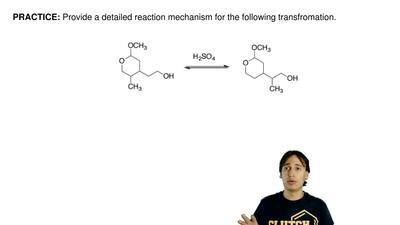 Provide a detailed reaction mechanism for the following transformation. ...