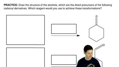 Draw the structure of the alcohols, which are the direct precursors of the fol...