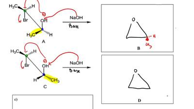 Williamson ether synthesis of epoxides.  a) Draw the structure of products B a...