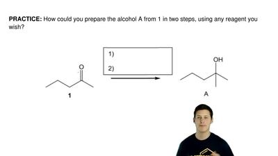 How could you prepare the alcohol A from 1 in two steps, using any reagent you...