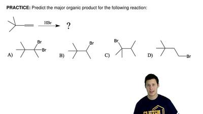 Predict the major organic product for the following reaction: ...