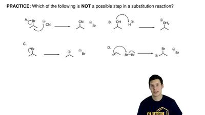 Which of the following is  NOT a possible step in a substitution reaction? ...