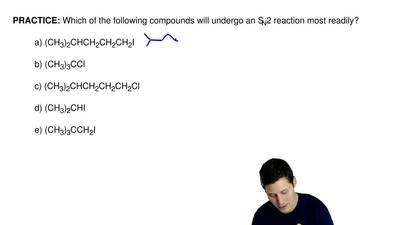 Which of the following compounds will undergo an SN2 reaction most readily?  ...