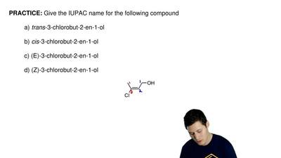 Give the IUPAC name for the following compound  a) trans-3-chlorobut-2-en-1-ol...