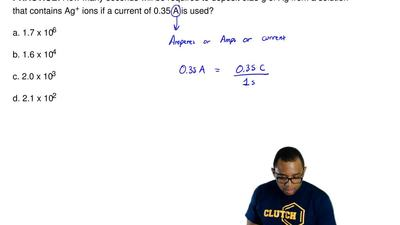 How many seconds will be required to deposit 6.23 g of Ag from a solution that...