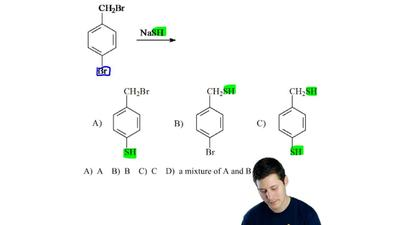 Determine the product(s) for the following reaction  a) A  b) B  c) C   d) a m...