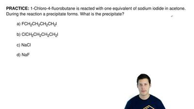 1-Chloro-4-fluorobutane is reacted with one equivalent of sodium iodide in ace...