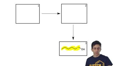 Propose a synthesis for the compound in box 3 below. Make it in TWO steps from...