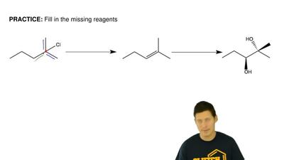Fill in the missing reagents ...