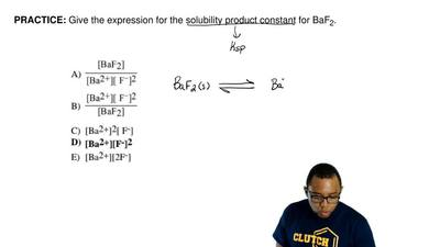 Give the expression for the solubility product constant for BaF2.   ...