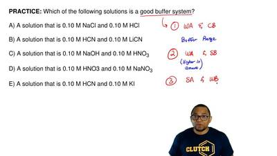 Which of the following solutions is a good buffer system?  A) A solution that ...