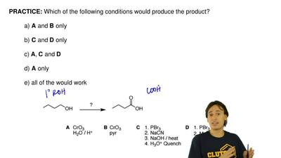 Which of the following conditions would produce the product?  a) A and B only ...