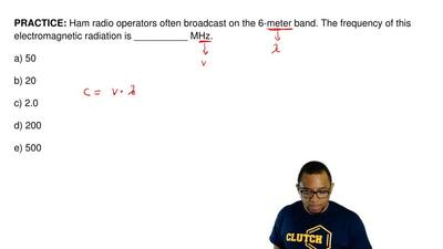 Ham radio operators often broadcast on the 6-meter band. The frequency of this...